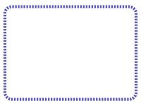 点線の角丸フレーム飾り枠イラスト