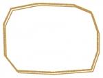 手書き風の多角形フレーム飾り枠イラスト