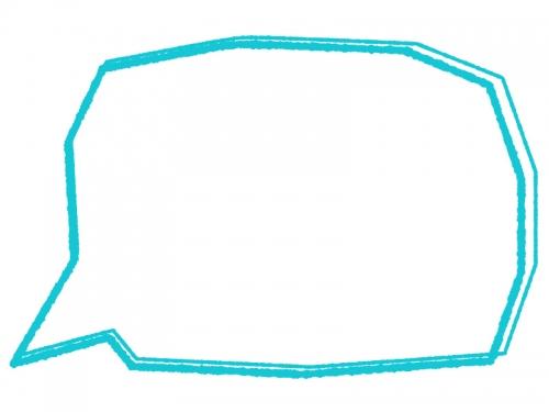 手書き風の多角形の吹き出しフレーム飾り枠イラスト