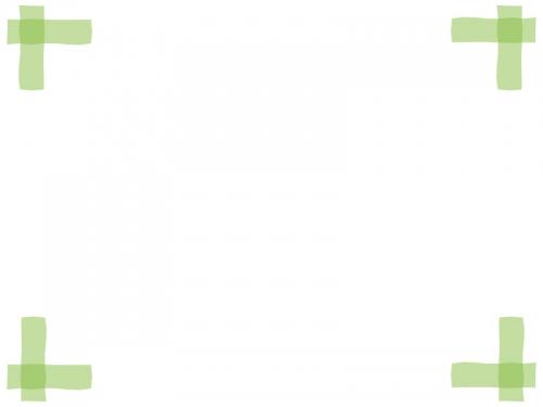 マーカー風の四隅フレーム飾り枠イラスト