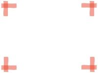 マーカー風の四隅フレーム飾り枠イラスト02