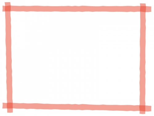 マーカー風のフレーム飾り枠イラスト