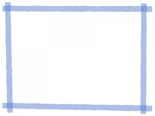 マーカー風のフレーム飾り枠イラスト02