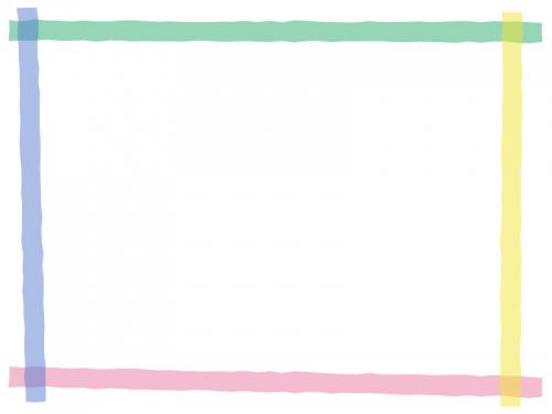 カラフルなマーカー風のフレーム飾り枠イラスト