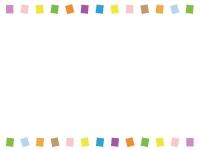 カラフルな上下フレーム飾り枠イラスト02