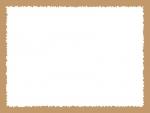 ラフなギザギザ模様のフレーム飾り枠イラスト05