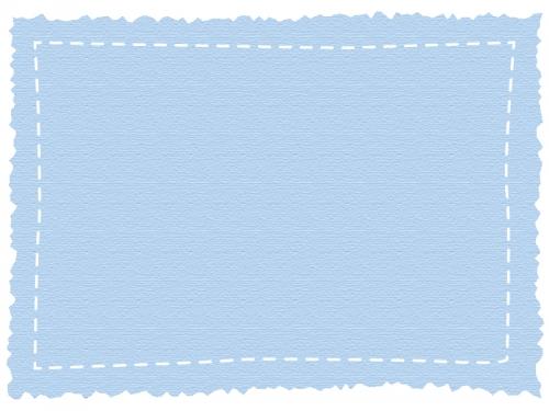 ギザギザの紙風フレームの飾り枠イラスト