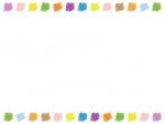 落書き風のカラフルな上下フレーム飾り枠イラスト02
