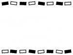 白と黒の上下のフレーム飾り枠イラスト