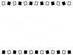 白と黒の上下のフレーム飾り枠イラスト02