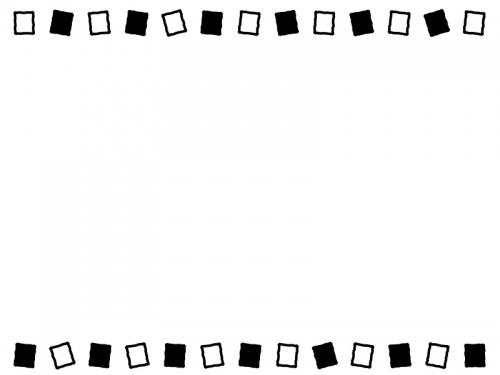 白と黒の上下のフレーム飾り枠イラスト02 無料イラスト かわいいフリー