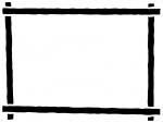 白黒のマーカー風のフレーム飾り枠イラスト