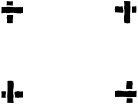 白黒の四隅フレーム飾り枠イラスト