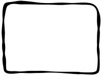 白黒の手書きのシンプルフレーム飾り枠イラスト