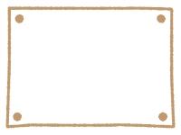 手書きのシンプルフレーム飾り枠イラスト02