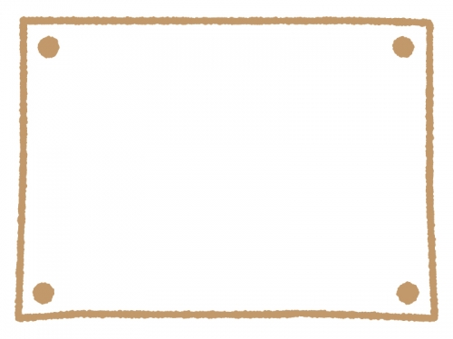 手書きのシンプルフレーム飾り枠イラスト02 無料イラスト かわいい