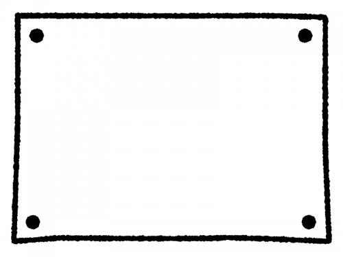 白黒の手書きのシンプルフレーム飾り枠イラスト02