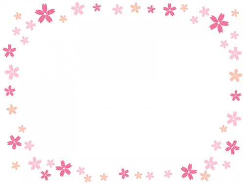 桜の囲みフレーム飾り枠イラスト