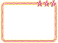 桜モチーフの付いたフレーム飾り枠イラスト