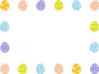カラフルなイースターエッグの囲みフレーム飾り枠イラスト