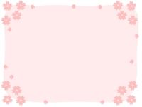 桜の囲みフレーム飾り枠イラスト02