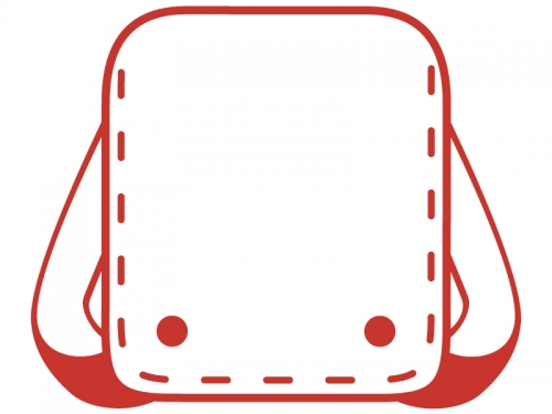 ランドセルの赤線フレーム飾り枠イラスト