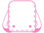 ランドセルのピンク色線フレーム飾り枠イラスト