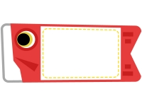 赤い鯉のぼりのフレーム飾り枠イラスト