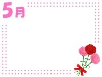 5月・母の日のカーネーションのフレーム飾り枠イラスト