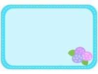 紫陽花の水色点線フレーム飾り枠イラスト