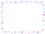 紫陽花と雨粒のフレーム飾り枠イラスト