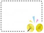 シンバルの点線の音楽フレーム飾り枠イラスト