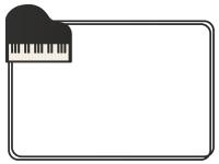 グランドピアノのシンプルフレーム飾り枠イラスト
