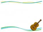 ギターの上下フレーム飾り枠イラスト