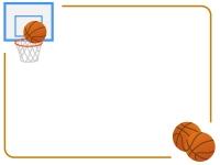 バスケットボールのフレーム飾り枠イラスト