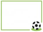 サッカーのフレーム飾り枠イラスト