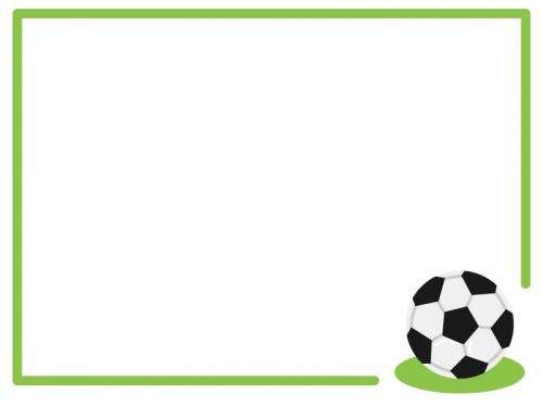 サッカーのフレーム飾り枠イラスト 無料イラスト かわいいフリー素材集