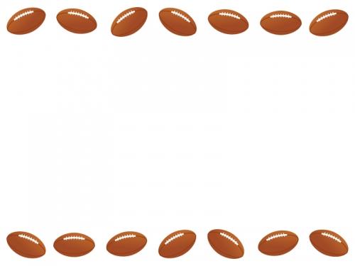 ラグビーボールの上下フレーム飾り枠イラスト