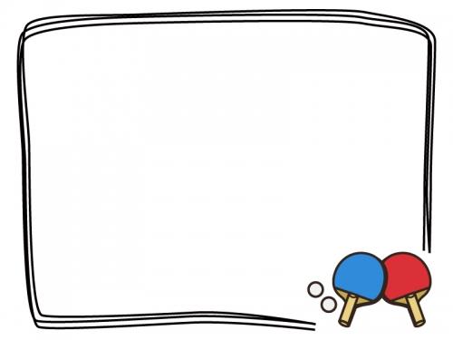 卓球のフレーム飾り枠イラスト 無料イラスト かわいいフリー素材集