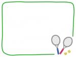 テニスのフレーム飾り枠イラスト