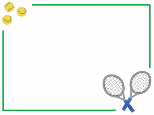 テニスのフレーム飾り枠イラスト02