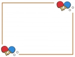 卓球のフレーム飾り枠イラスト02