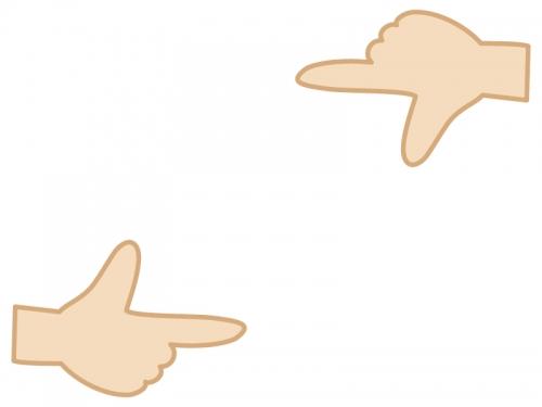 指・手のフレーム飾り枠イラスト
