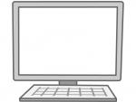 パソコンのフレーム飾り枠イラスト