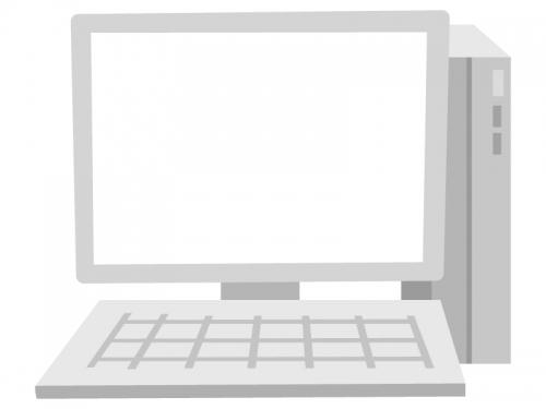 パソコンのモニターのフレーム飾り枠イラスト02
