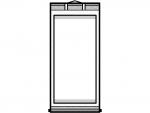 掛け軸の白黒フレーム飾り枠イラスト