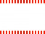紅白の上下フレーム飾り枠イラスト