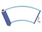 青い巻き物のフレーム飾り枠イラスト