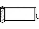 巻き物の白黒フレーム飾り枠イラスト