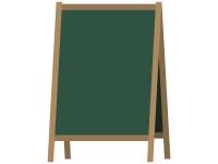 カフェの看板風黒板フレーム飾り枠イラスト